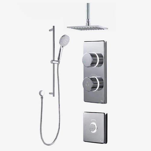 Digital Showers Digital Shower Pack, Slide Rail, Square Head & Remote (LP).