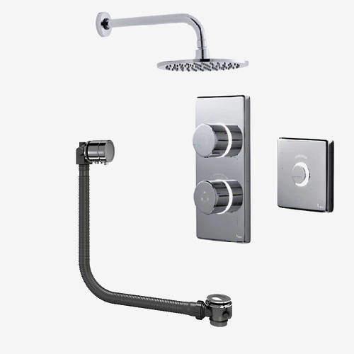 Digital Showers Digital Shower Pack, Bath Filler, Remote & Round Head (LP).