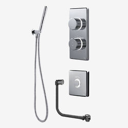 Digital Showers Twin Digital Shower Pack, Filler, Shower Kit & Remote (LP).