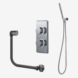 Digital Showers Twin Digital Shower Pack, Bath Filler & Shower Kit (LP).