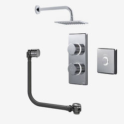 Digital Showers Digital Shower Pack, Bath Filler, Remote & Square Head (LP)