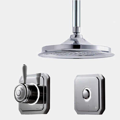 "Digital Showers Digital Shower Valve, Remote & 6"" Shower Head (HP)."