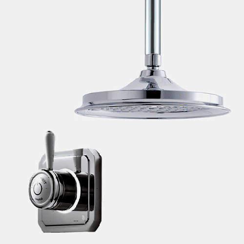 "Digital Showers Digital Shower Valve, Ceiling Arm & 6"" Shower Head (HP)."
