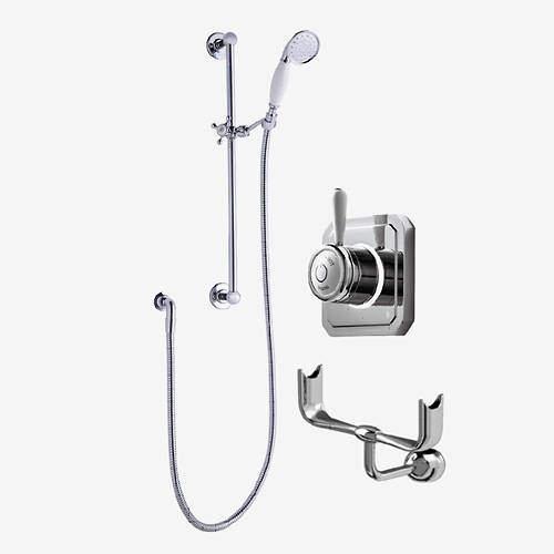 Digital Showers Digital Shower Valve, Processor, Slide Rail Kit & Cradle (HP).