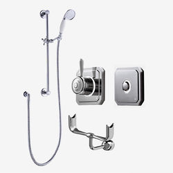 Digital Showers Digital Shower, Processor, Remote, Slide Rail Kit & Cradle (HP).