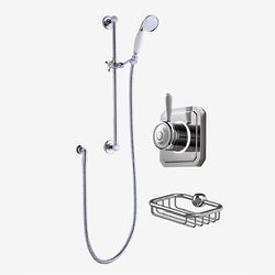 Digital Showers Digital Shower Valve, Processor, Slide Rail Kit & Basket (HP).