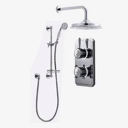 "Digital Showers Digital Shower Pack, Slide Rail, Basket & 12"" Head (HP)."