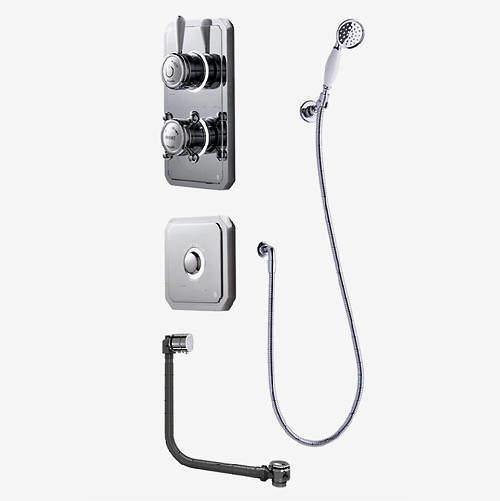 Digital Showers Digital Shower Pack, Bath Filler, Shower Kit & Remote (HP).