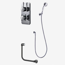 Digital Showers Twin Digital Shower Pack, Bath Filler & Shower Kit (HP).