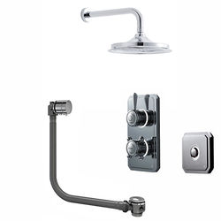 "Digital Showers Digital Shower Pack, Bath Filler, 12"" Head & Remote (HP)."