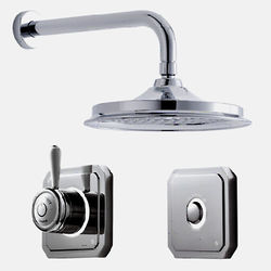 "Digital Showers Digital Shower Valve, Remote & 12"" Shower Head (LP)."