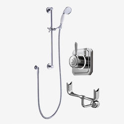 Digital Showers Digital Shower Valve, Processor, Slide Rail Kit & Cradle (LP).