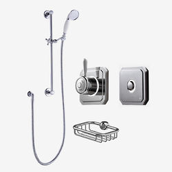 Digital Showers Digital Shower Valve, Processor, Slide Rail Kit & Remote (LP).