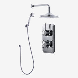 "Digital Showers Twin Digital Shower Pack With Spray Kit & 12"" Head (LP)."