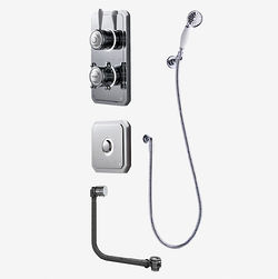 Digital Showers Digital Shower Pack, Bath Filler, Shower Kit & Remote (LP).