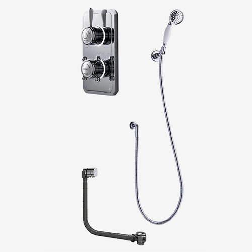 Digital Showers Twin Digital Shower Pack, Bath Filler & Shower Kit (LP).