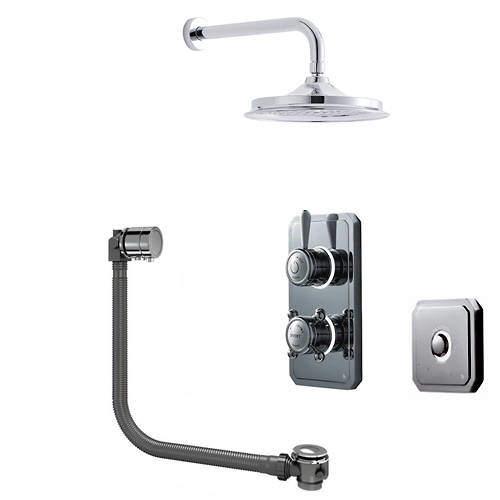 """Digital Showers Digital Shower Pack, Bath Filler, 9"""" Head & Remote (LP)."""
