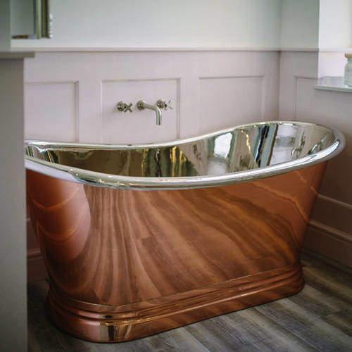 BC Designs Copper & Nickel Boat Bath 1700mm (Nickel Inner/Copper Outer).