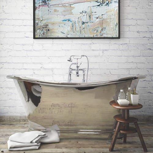 BC Designs Nickel Boat Bath 1700mm (Nickel Inner/Nickel Outer).