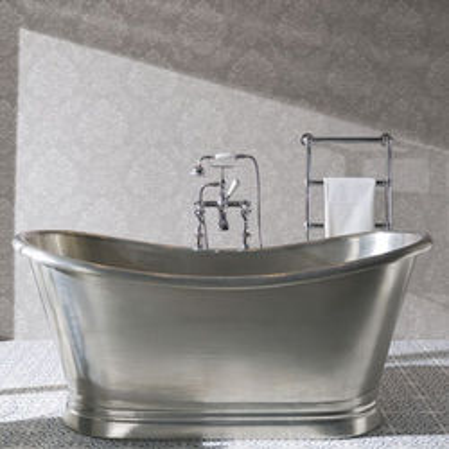 BC Designs Tin Boat Bath 1700mm (Tin Inner/Tin Outer).