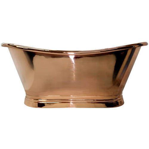 BC Designs Copper Boat Bath 1500mm (Copper Inner/Copper Outer).