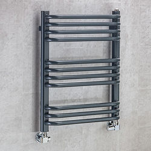 COLOUR Heated Towel Rail & Wall Brackets 620x600 (Anthracite Grey).