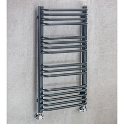 COLOUR Heated Towel Rail & Wall Brackets 900x500 (Anthracite Grey).