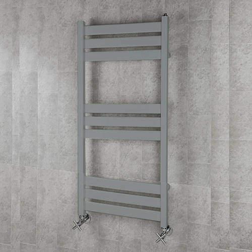 COLOUR Heated Towel Rail & Wall Brackets 1080x500 (Window Grey).