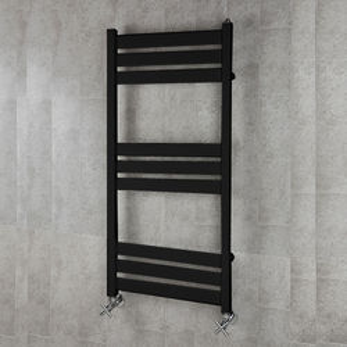 COLOUR Heated Towel Rail & Wall Brackets 1080x500 (Jet Black).