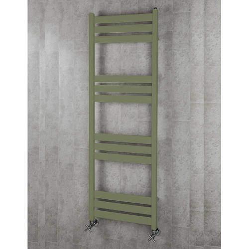 COLOUR Heated Towel Rail & Wall Brackets 1500x500 (Reed Green).