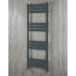 COLOUR Heated Towel Rail & Wall Brackets 1500x500 (Anthracite Grey).