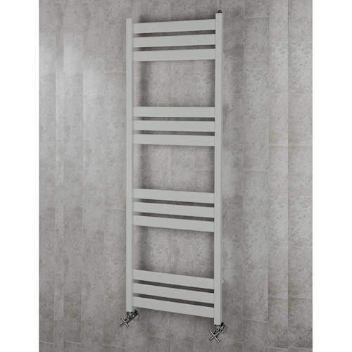 COLOUR Heated Towel Rail & Wall Brackets 1500x500 (Light Grey).