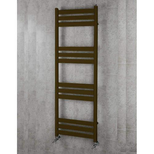 COLOUR Heated Towel Rail & Wall Brackets 1500x500 (Nut Brown).