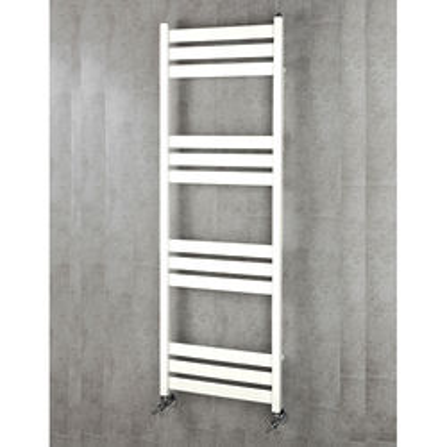 COLOUR Heated Towel Rail & Wall Brackets 1500x500 (Pure White).