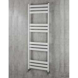 COLOUR Heated Towel Rail & Wall Brackets 1500x500 (White).