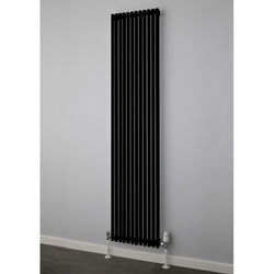 COLOUR Chaucer Single Vertical Radiator 1820x300mm (Jet Black).
