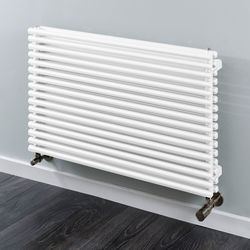 COLOUR Chaucer Double Horizontal Radiator 402x920mm (White).