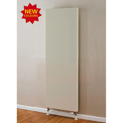 COLOUR Faraday Vertical Radiator 1600x600mm (P+, Silk Grey, 6633 BTUs).