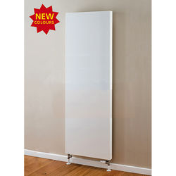 COLOUR Faraday Vertical Radiator 1600x600mm (P+, White, 6633 BTUs).