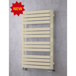 COLOUR Heated Towel Rail & Wall Brackets 1110x500 (Light Ivory).