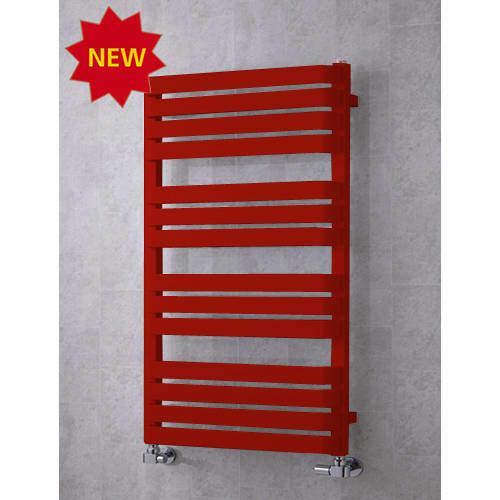 COLOUR Heated Towel Rail & Wall Brackets 1110x500 (Ruby Red).