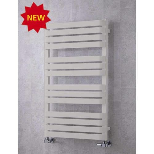 COLOUR Heated Towel Rail & Wall Brackets 1110x500 (Light Grey).