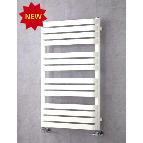 COLOUR Heated Towel Rail & Wall Brackets 1110x500 (Pure White).