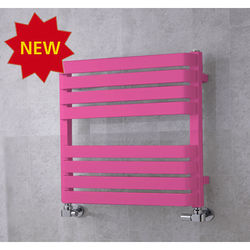 COLOUR Heated Towel Rail & Wall Brackets 655x500 (Heather Violet).