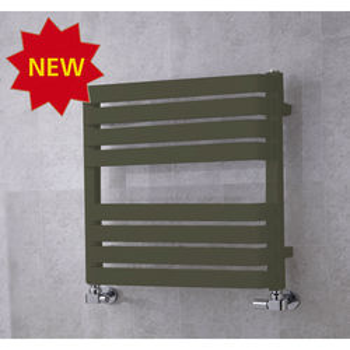 COLOUR Heated Towel Rail & Wall Brackets 655x500 (Reed Green).