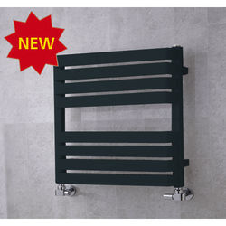 COLOUR Heated Towel Rail & Wall Brackets 655x500 (Anthracite Grey).