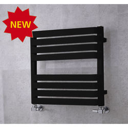 COLOUR Heated Towel Rail & Wall Brackets 655x500 (Jet Black).
