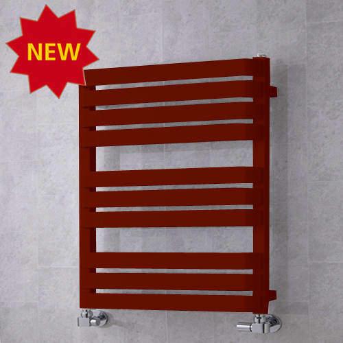 COLOUR Heated Towel Rail & Wall Brackets 785x500 (Purple Red).