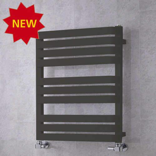 COLOUR Heated Towel Rail & Wall Brackets 785x500 (Grey Olive).