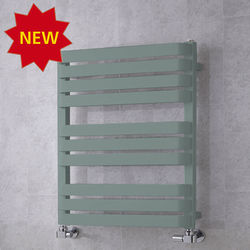 COLOUR Heated Towel Rail & Wall Brackets 785x500 (Traffic Grey A).